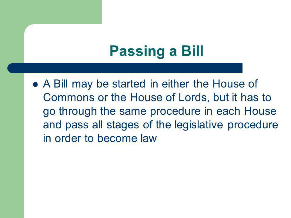 Passing a Bill