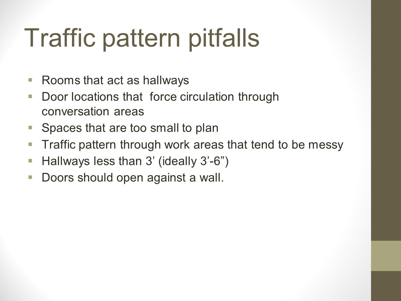Traffic pattern pitfalls