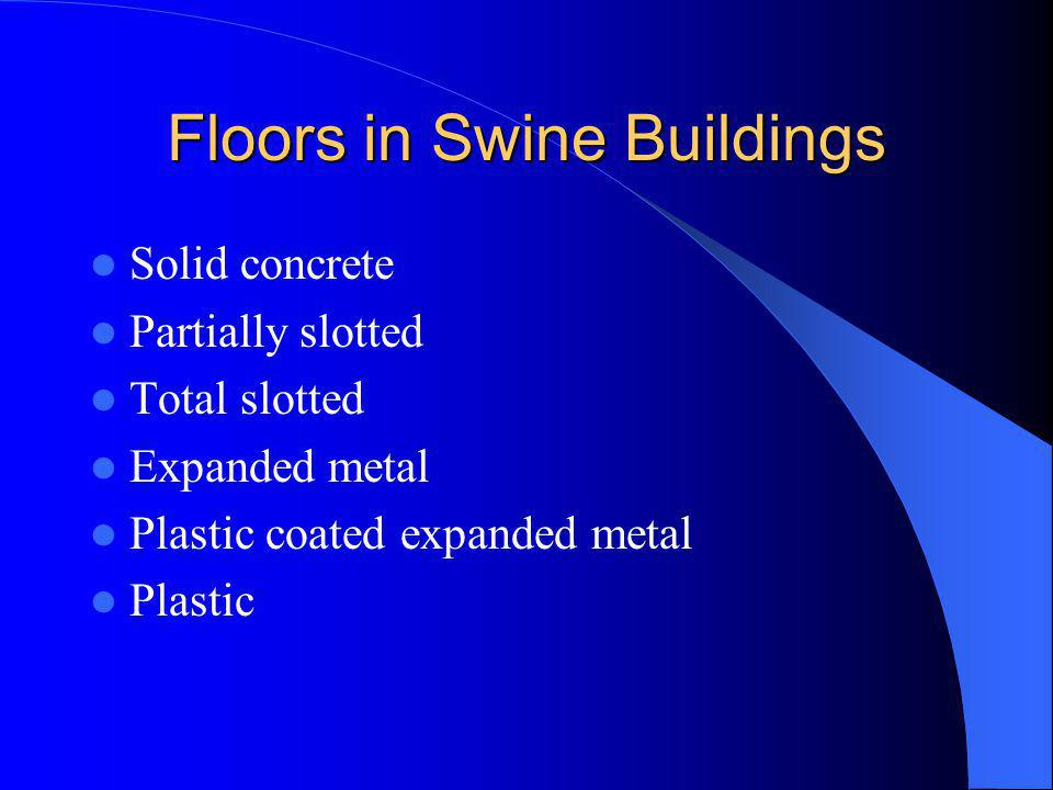 Floors in Swine Buildings