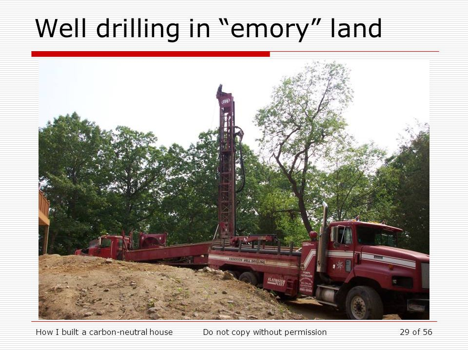 Well drilling in emory land