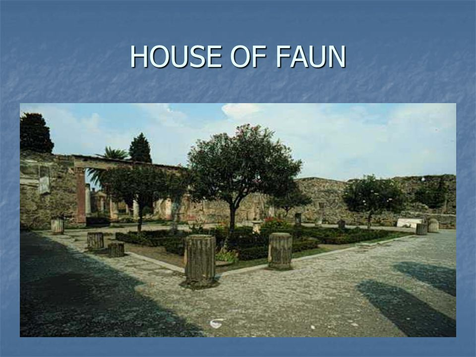HOUSE OF FAUN