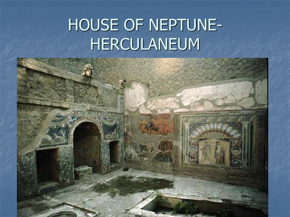 HOUSE OF NEPTUNE-HERCULANEUM