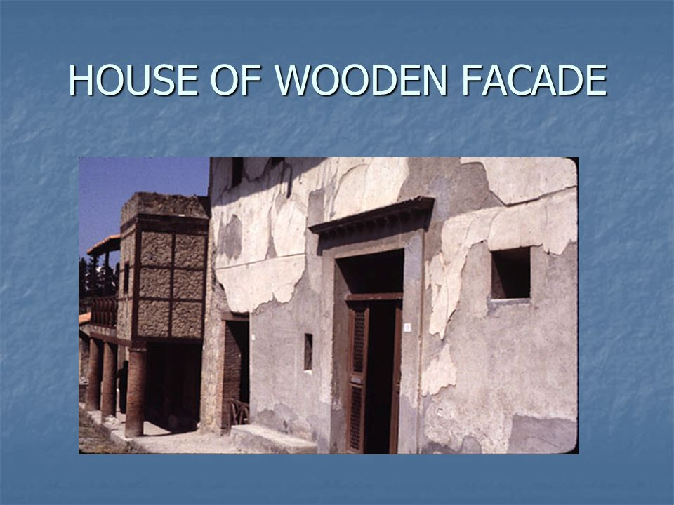 HOUSE OF WOODEN FACADE