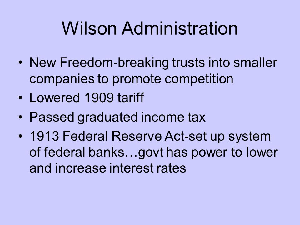 Wilson Administration
