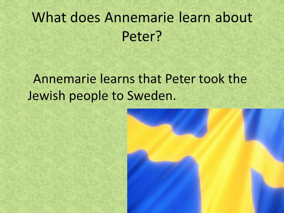 What does Annemarie learn about Peter