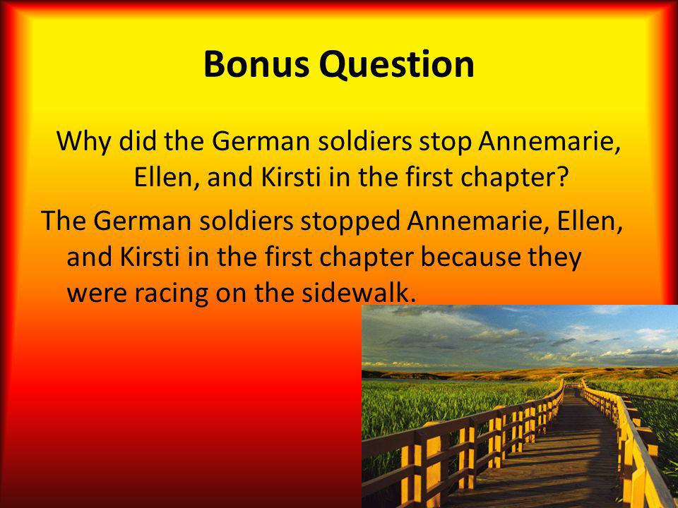 Bonus Question