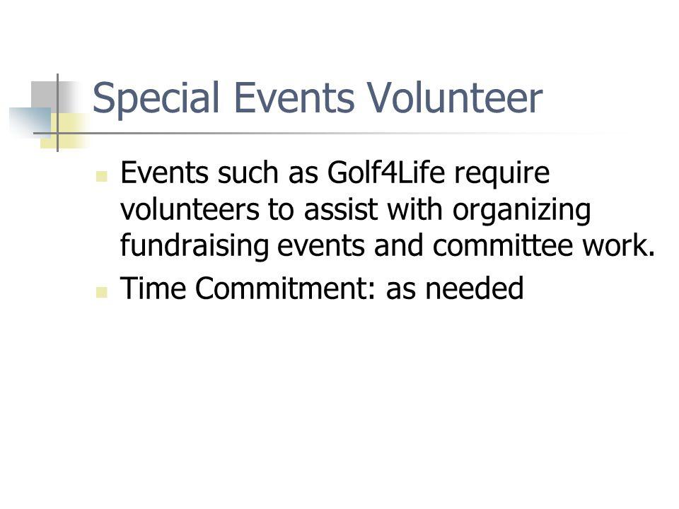 Special Events Volunteer