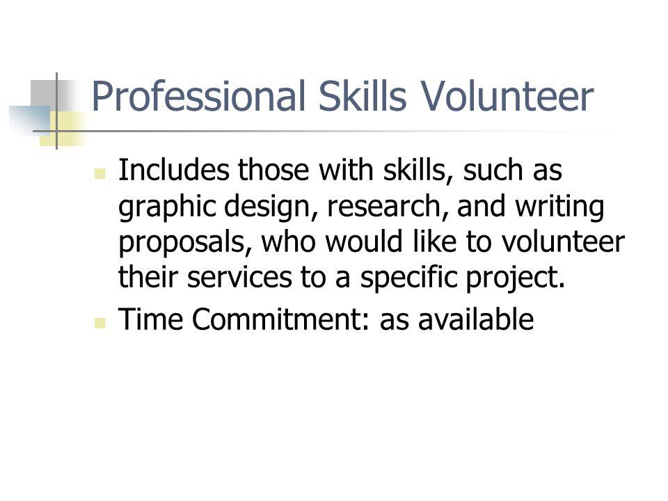 Professional Skills Volunteer