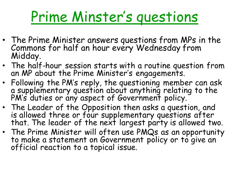 Prime Minster's questions