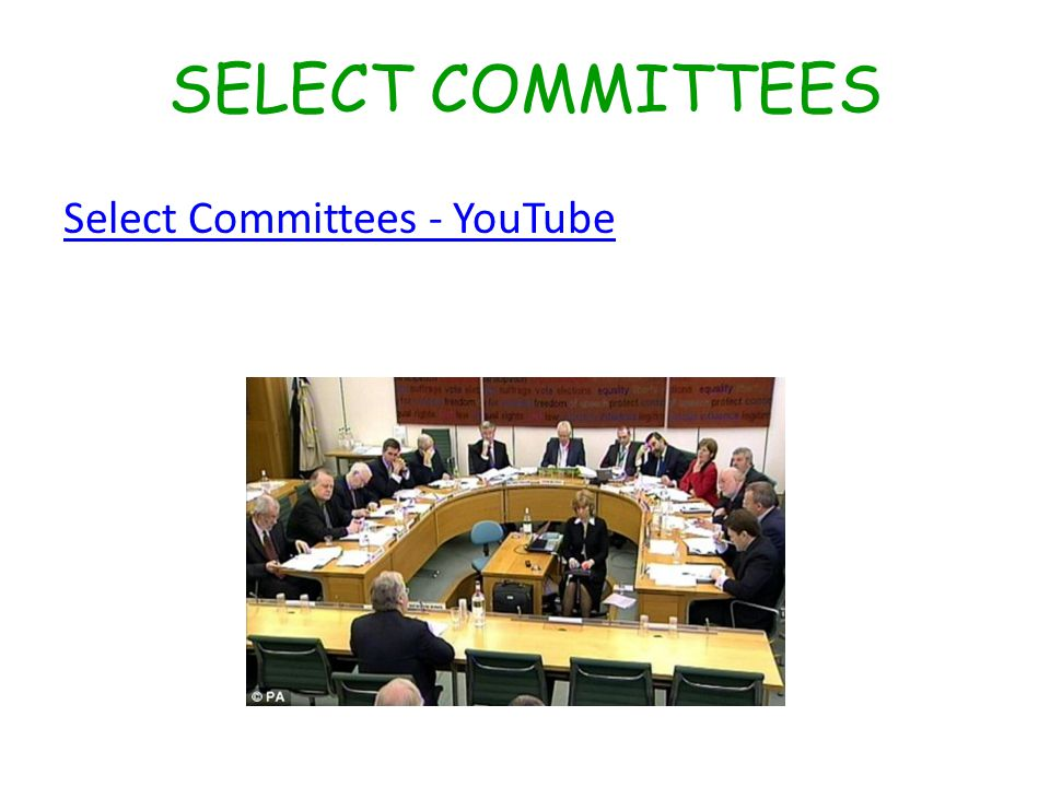 SELECT COMMITTEES Select Committees - YouTube