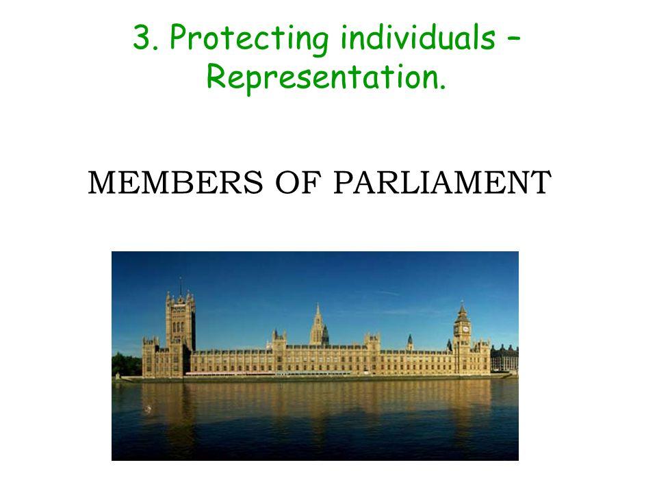 3. Protecting individuals – Representation.