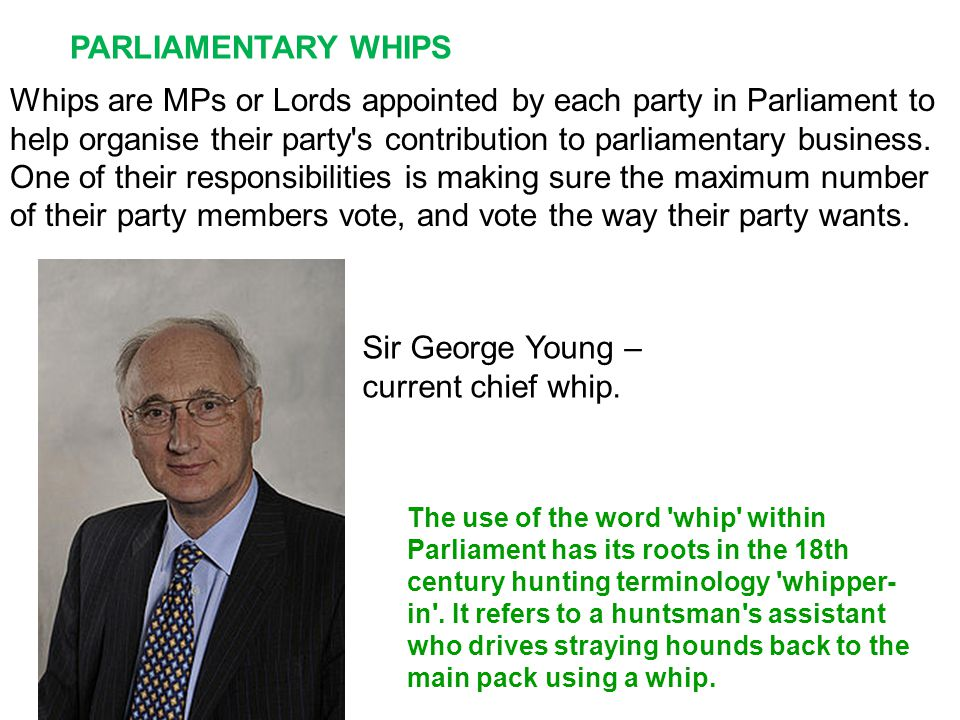 Sir George Young – current chief whip.