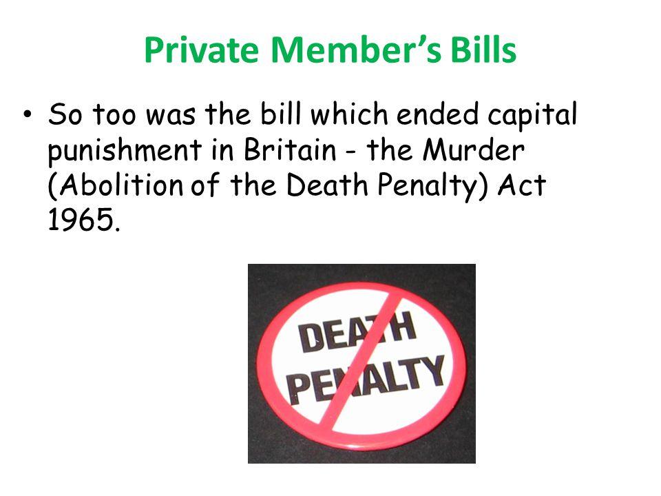 Private Member's Bills