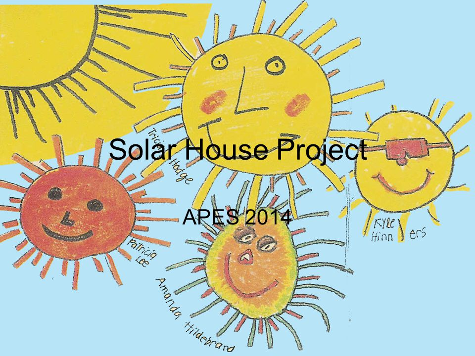 Solar House Project APES 2014