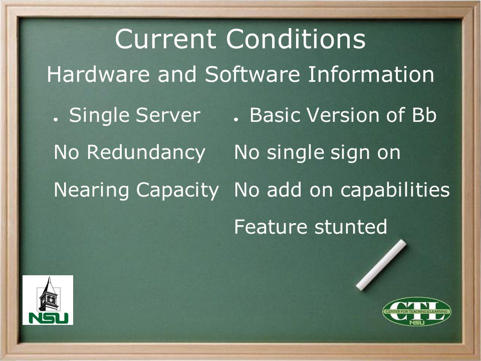Current Conditions Hardware and Software Information