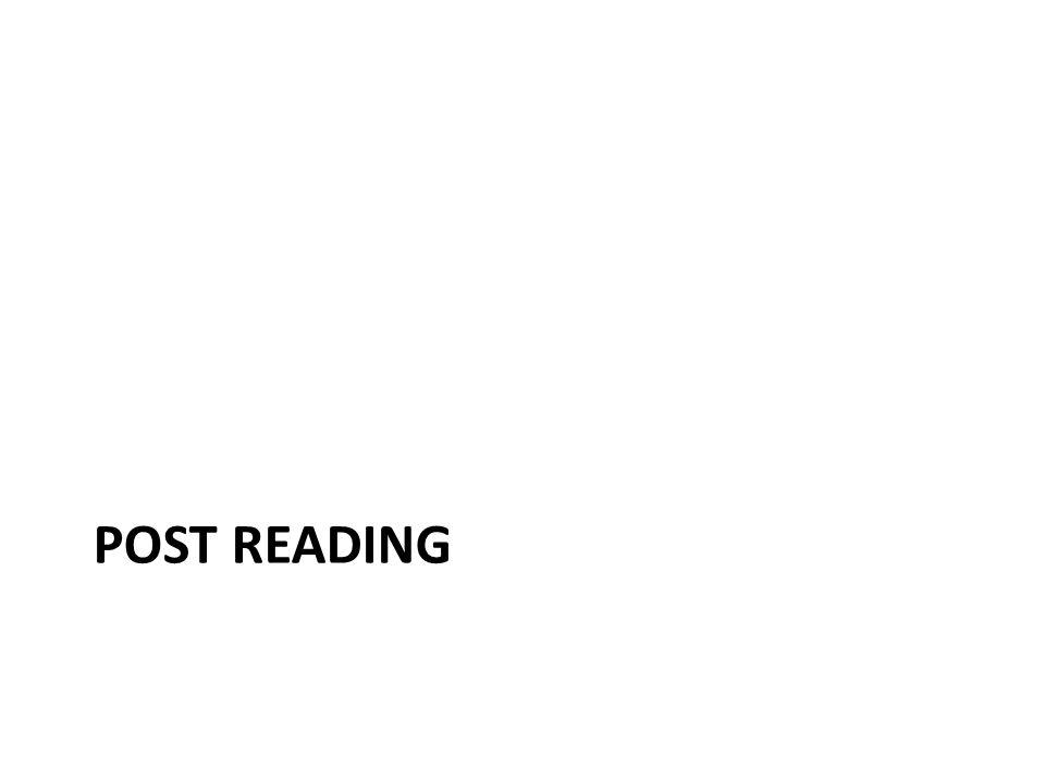 Post reading