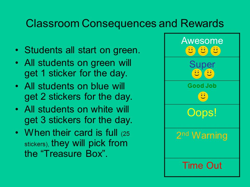 Classroom Consequences and Rewards