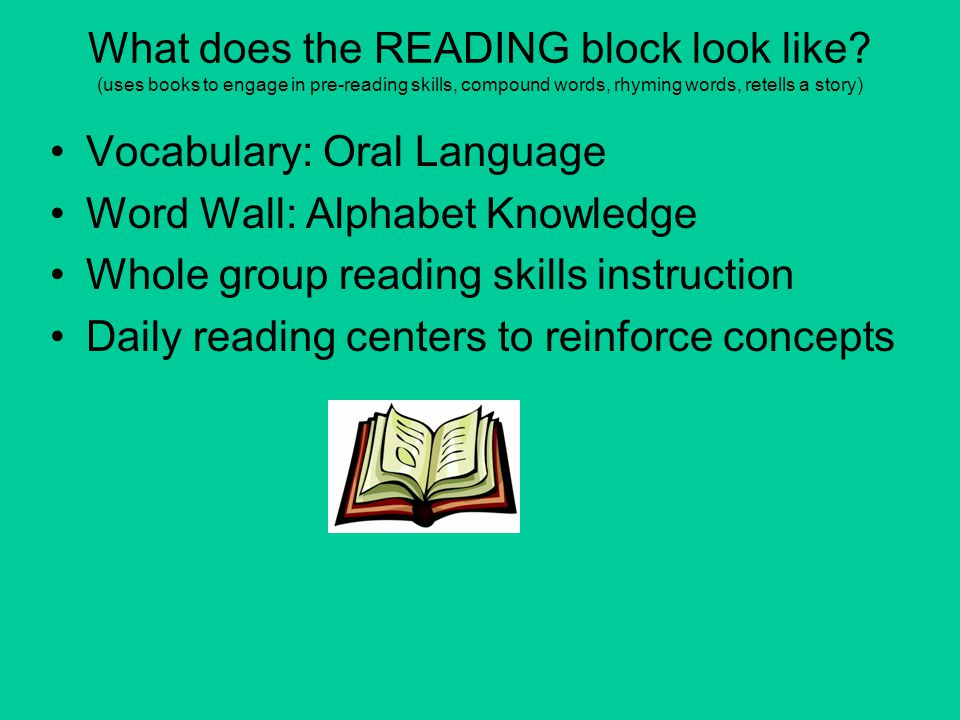 What does the READING block look like