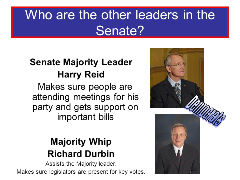 Who are the other leaders in the Senate