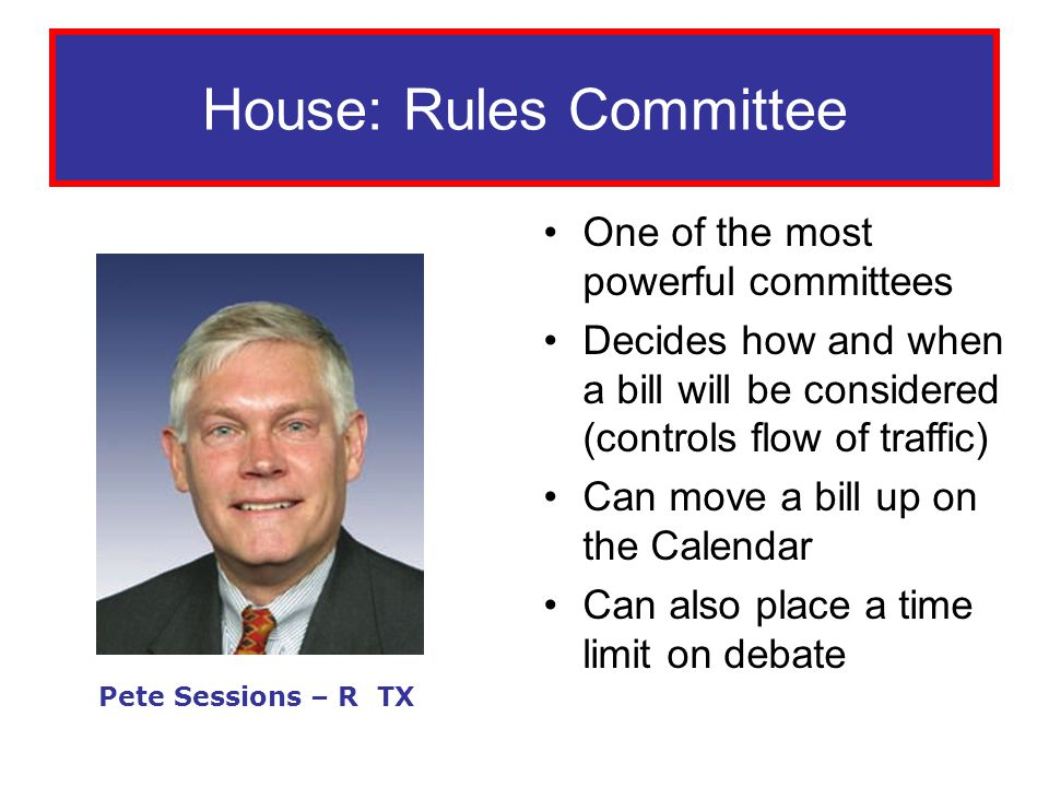 House: Rules Committee