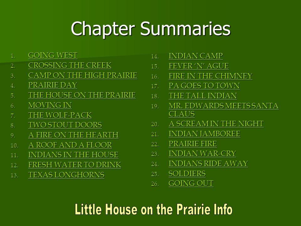 Little House on the Prairie Info