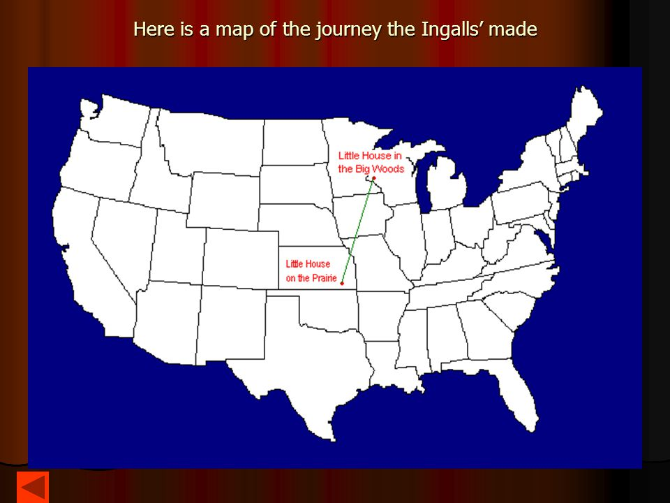 Here is a map of the journey the Ingalls' made