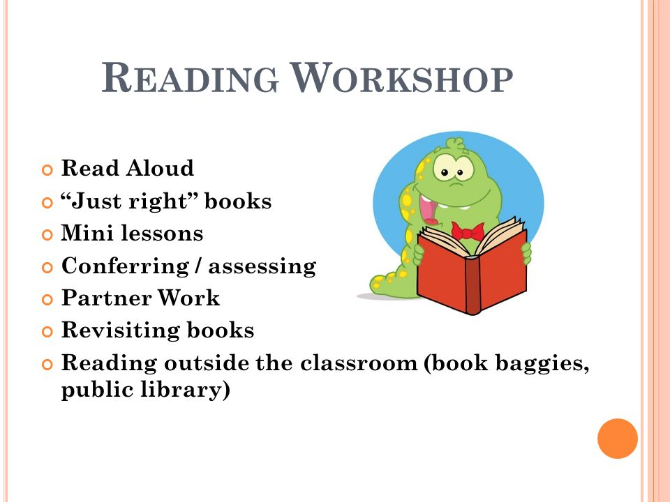 Reading Workshop Read Aloud Just right books Mini lessons