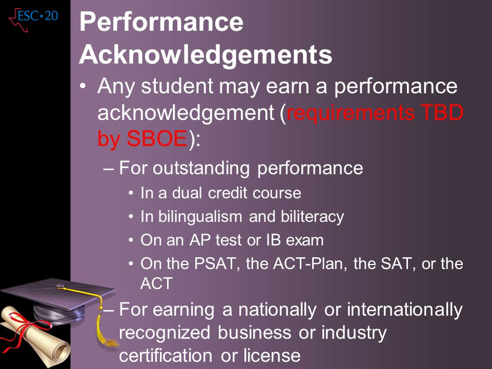 Performance Acknowledgements