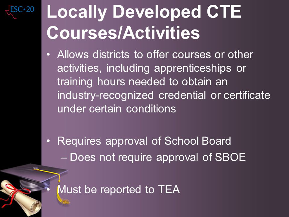 Locally Developed CTE Courses/Activities