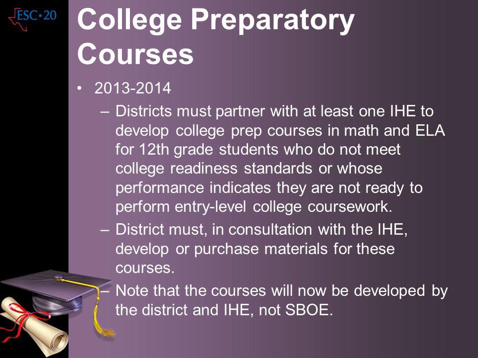 College Preparatory Courses