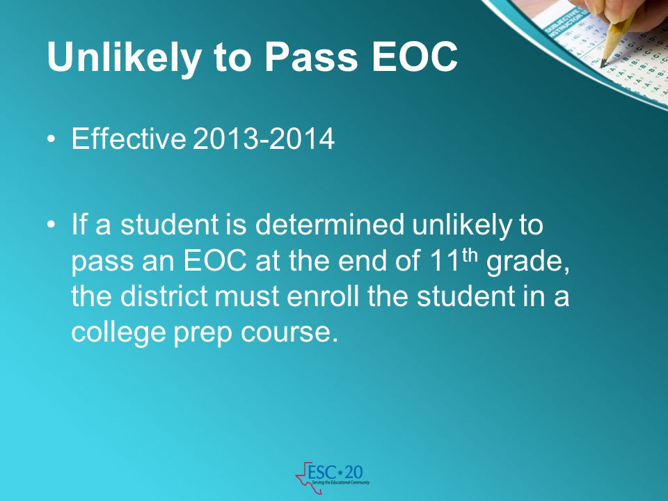Unlikely to Pass EOC Effective 2013-2014