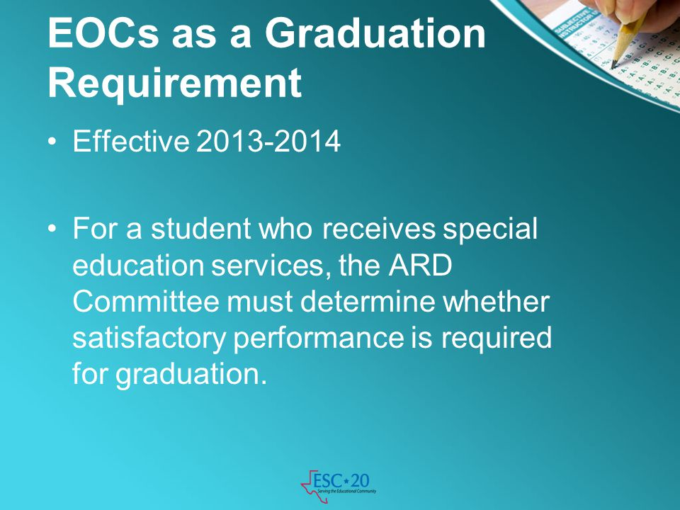 EOCs as a Graduation Requirement