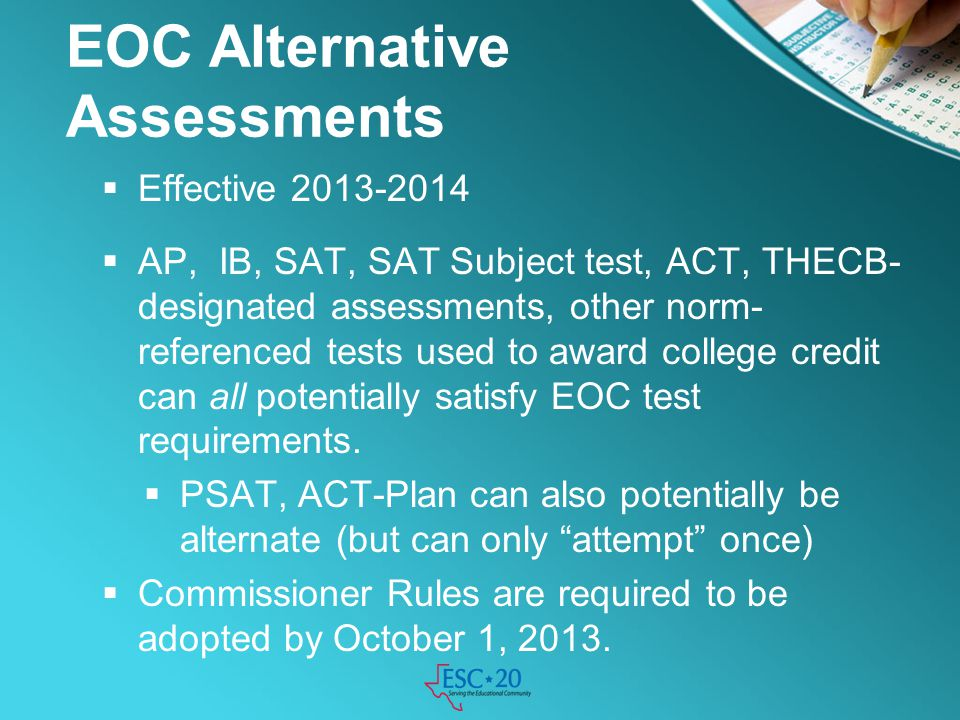 EOC Alternative Assessments