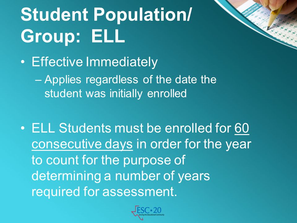 Student Population/ Group: ELL