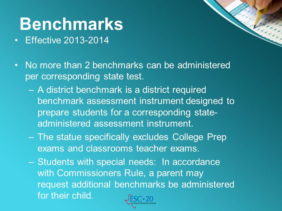 Benchmarks Effective 2013-2014