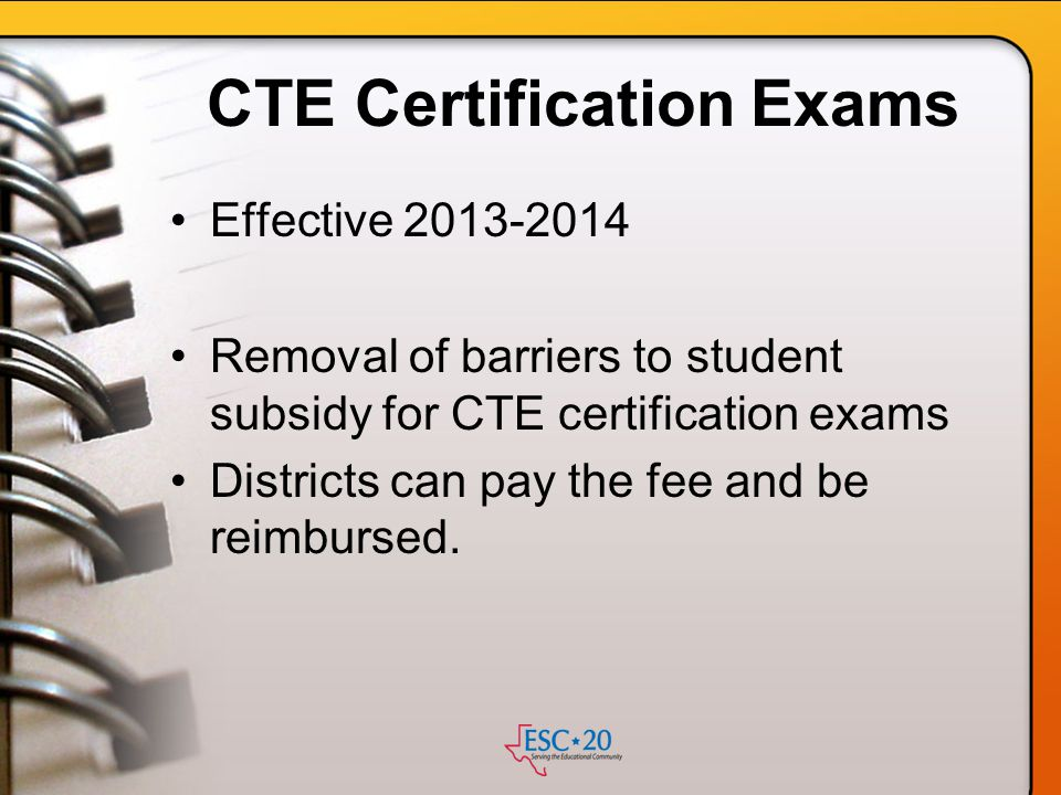 CTE Certification Exams