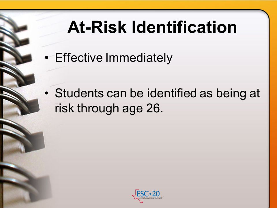 At-Risk Identification