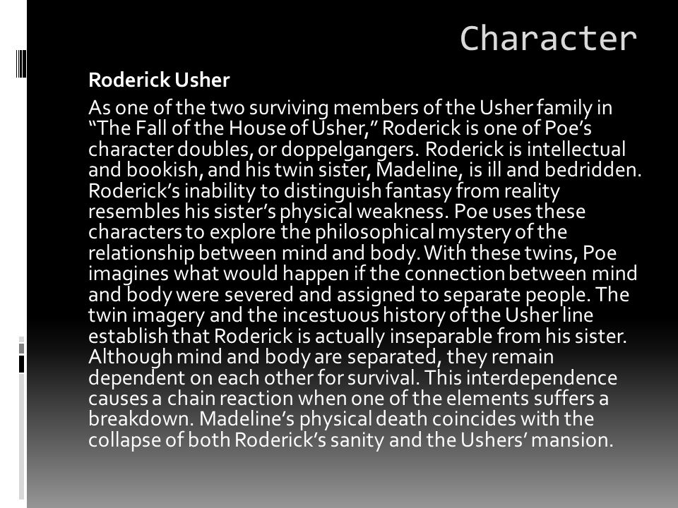 Character Roderick Usher