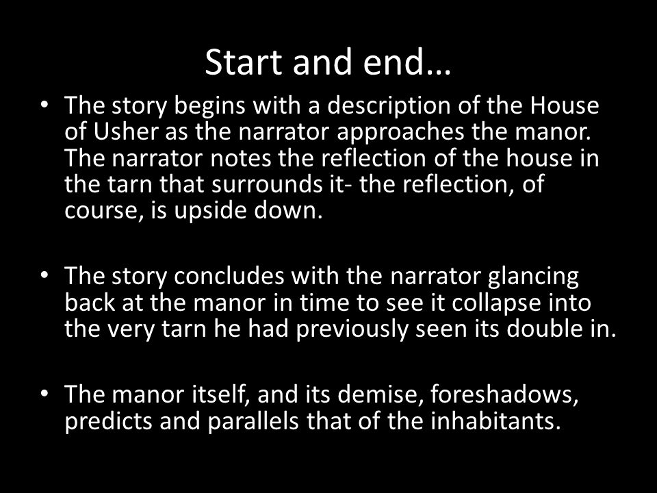 Start and end…
