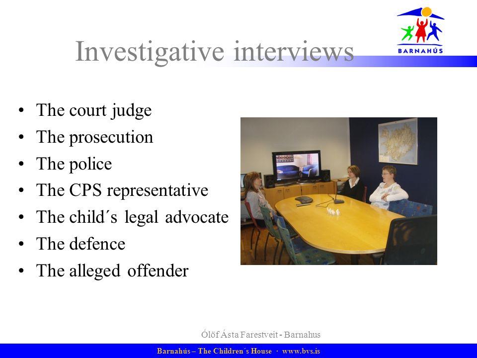 Investigative interviews