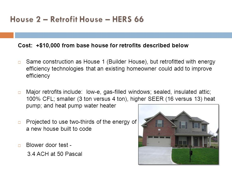 House 2 – Retrofit House – HERS 66