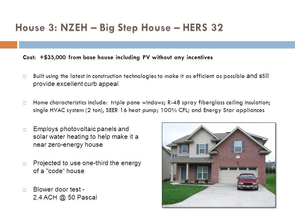 House 3: NZEH – Big Step House – HERS 32