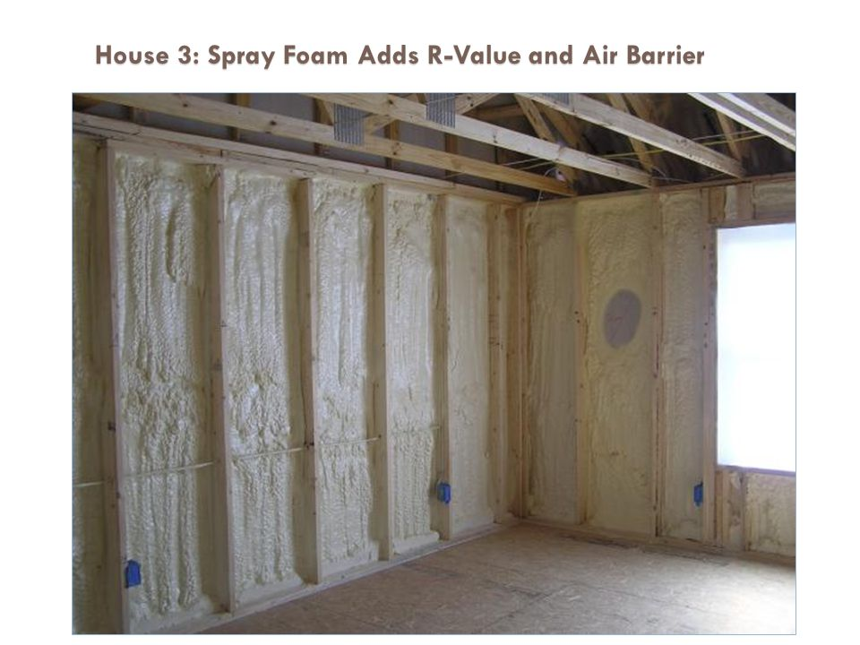 House 3: Spray Foam Adds R-Value and Air Barrier