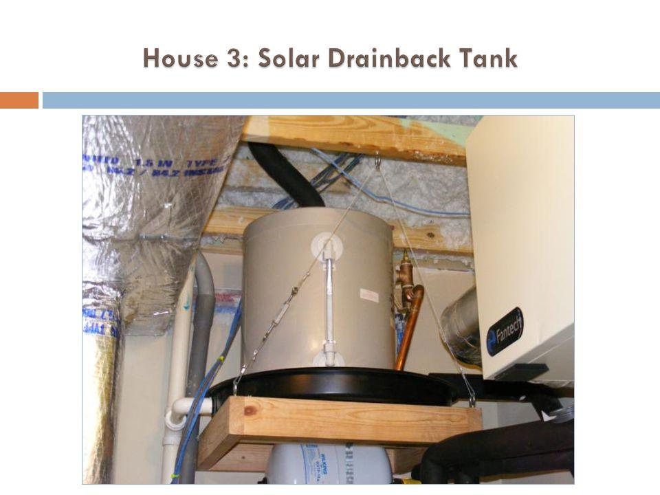 House 3: Solar Drainback Tank