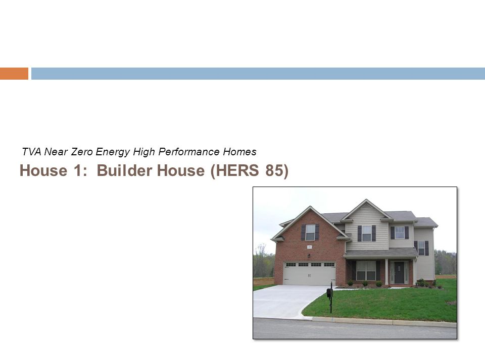 House 1: Builder House (HERS 85)