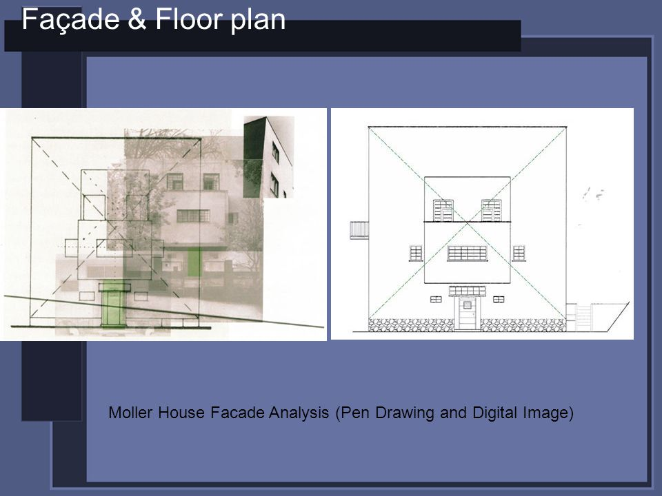 Façade & Floor plan Moller House Facade Analysis (Pen Drawing and Digital Image)