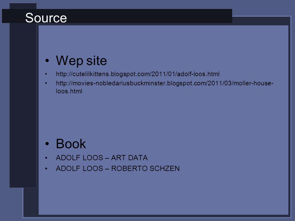 Source Wep site Book ADOLF LOOS – ART DATA ADOLF LOOS – ROBERTO SCHZEN