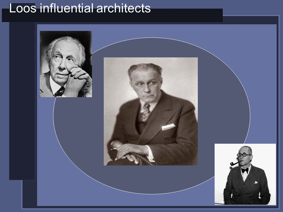 Loos influential architects