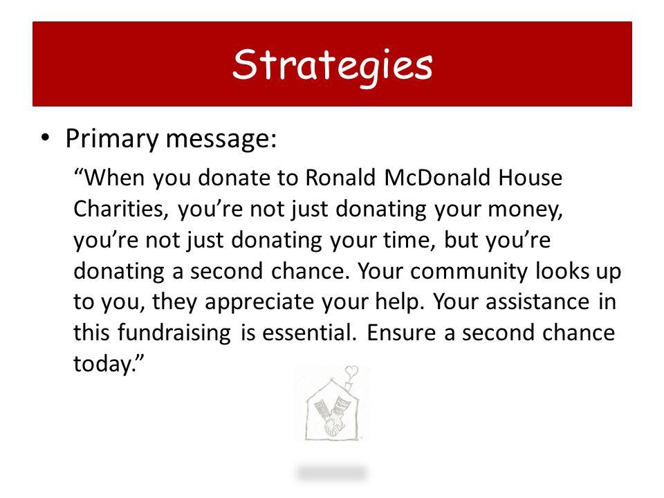 Strategies Primary message: