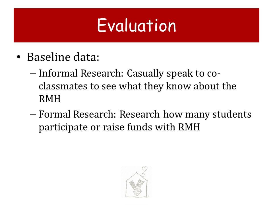 Evaluation Baseline data:
